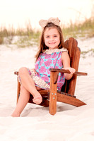 Beach Portrait in Adirondack Chair