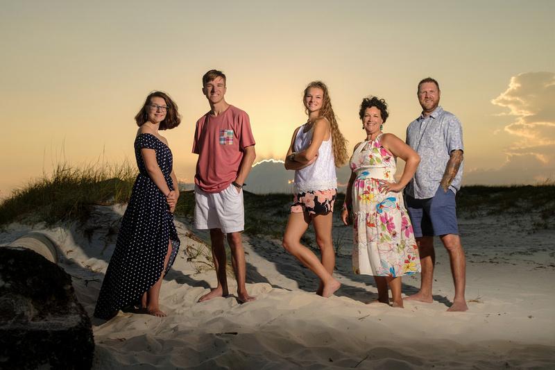 Sunset Family Beach Portrait | Perdido Key