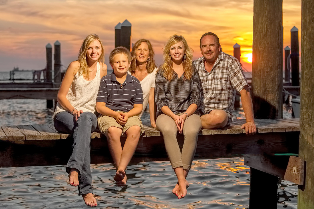 Family Sunset Portrait Fort Morgan