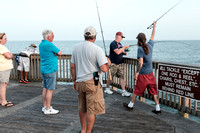 Catching Fish at the Pier