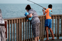 Kids Fishing at Pier