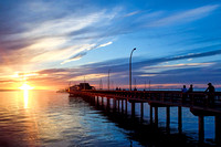 August sunset at Fairhope Pier