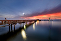 Fairhope Municipal Pier at Sunset