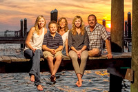 Family Sunset Portrait Fort Morgan