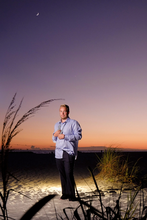 After Sunset Beach Portrait