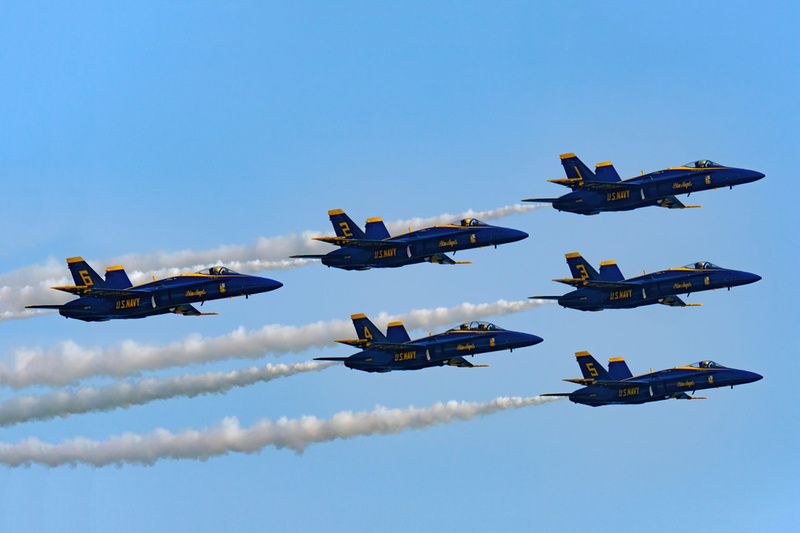 Blue Angels Beach Flyover