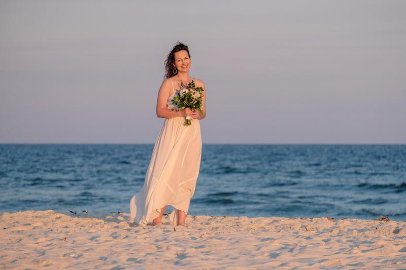 Bridal Portrait at the Beach