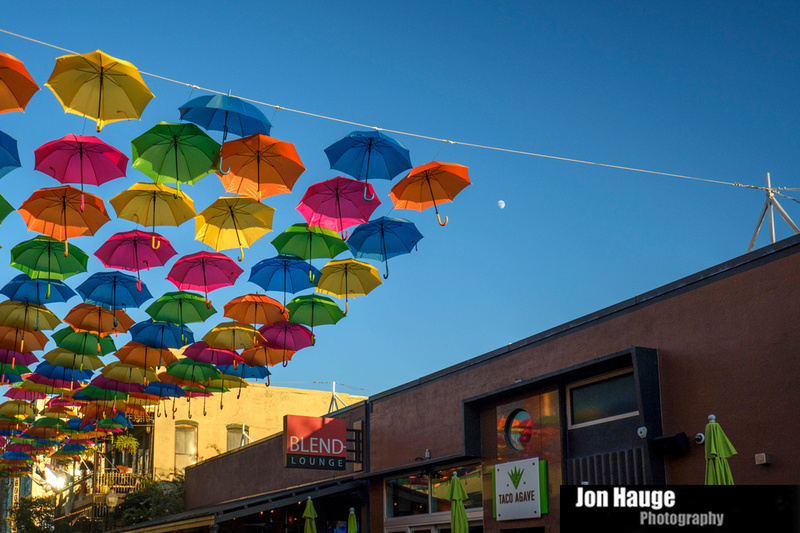 Downtown Pensacola Umbrella Project.