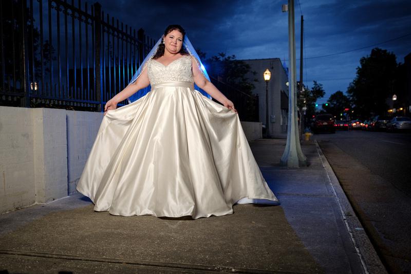 Bridal Portrait Dauphin Street Mobile Alabama