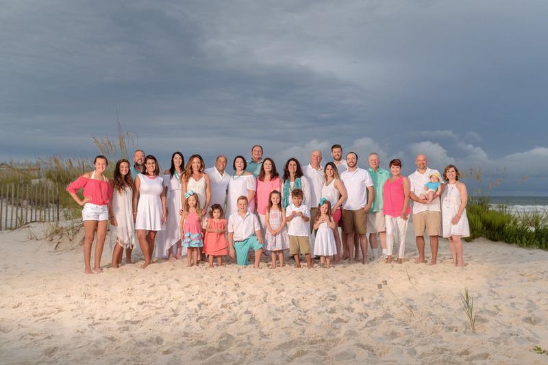 Gulf Shores Multi-Family Beach Portrait