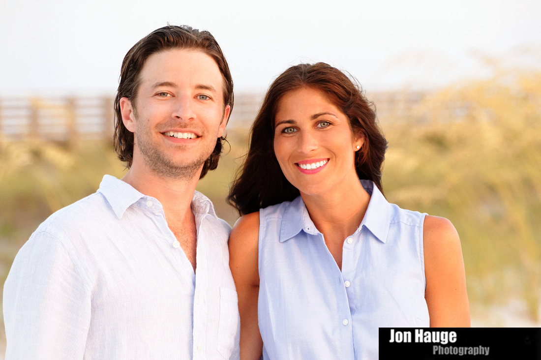 A couple portrait in Orange Beach