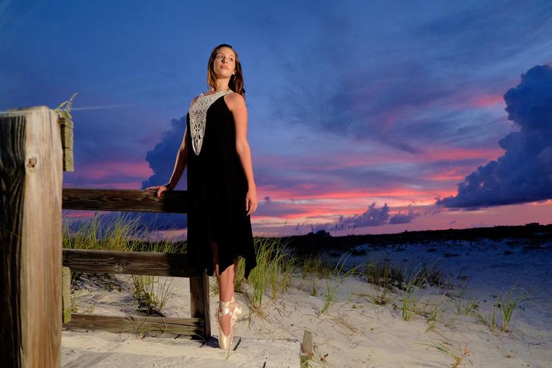 Sunset Senior Portrait at Perdido Key