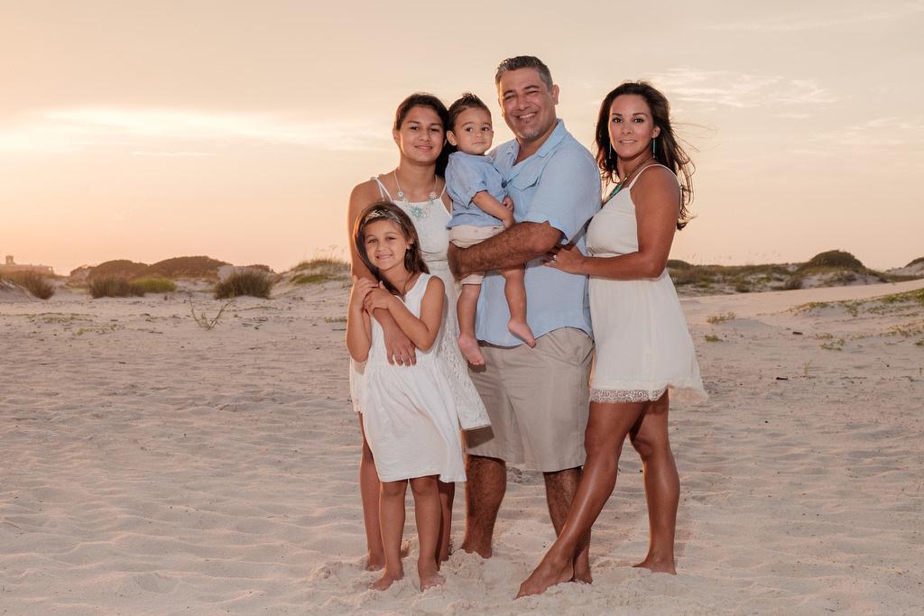 Beach Club Family Portrait