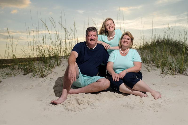 Sunset Family Beach Portrait