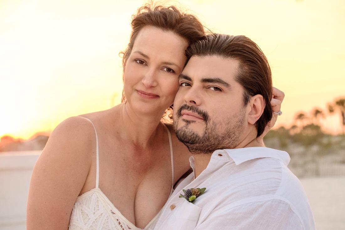 Wedding Porttrait at Sunset